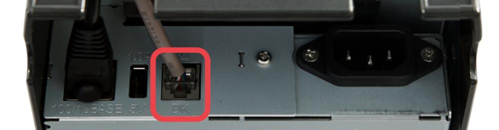 Star TSP100 cash drawer port